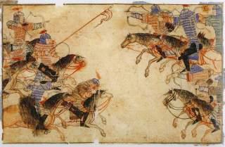 https://en.wikipedia.org/wiki/Mongol_military_tactics_and_organization#/media/File:DiezAlbumsMountedArchers.jpg