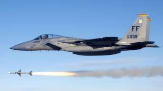 By The original uploader was Alvinrune at English Wikipedia. - This file has been extracted from another file: USAF F-15C fires AIM-7 Sparrow.jpgTransferred from en.wikipedia to Commons by Mo7amedsalim using CommonsHelper., Public Domain, https://commons.