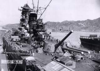 By Kure Naval Base - http://www.gc2-4.org/forum/viewtopic.php?t=2197&sid=111174c1d33cc097281fbb0afa147446. This photo is part of the records in the Yamato Museum (PG071320). Search with the kanji characters of Yamato (大和) for the name (second field), and
