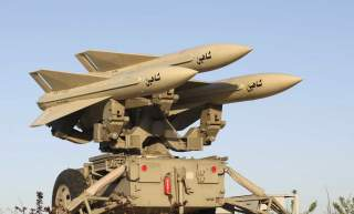 The Shaheen missile, part of Iran's medium range anti-aircraft air defence system Mersad (Ambush), is seen on its launcher during its unveiling ceremony in Tehran April 11, 2010.