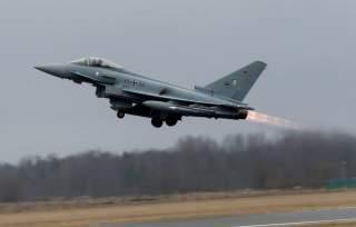 German Air Force Eurofighter Typhoon takes-off during the air policing scramble in Amari air base, Estonia, March 2, 2017. REUTERS/Ints Kalnins