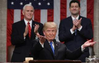 U.S. President Donald Trump delivers his first State of the Union address to a joint session of Congress inside the House Chamber on Capitol Hill in Washington, U.S., January 30, 2018. REUTERS/Win McNamee/Pool TPX IMAGES OF THE DAY