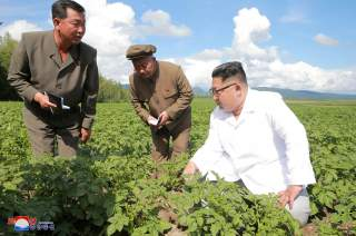 North Korea leader Kim Jong Un inspects Chunghung farm in Samjiyon County in this undated photo released by North Korea's Korean Central News Agency (KCNA) on July 10, 2018. KCNA/via REUTERS