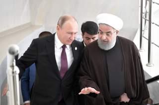 Russian President Vladimir Putin and Iranian President Hassan Rouhani attend a meeting during the Fifth Caspian Summit in Aktau, Kazakhstan August 12, 2018. Sputnik/Alexei Nikolsky/Kremlin via REUTERS