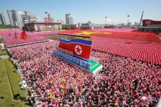 People take part in celebrations marking the 70th anniversary of North Korea's foundation in Pyongyang, North Korea, in this undated photo released September 10, 2018 by North Korea's Korean Central News Agency (KCNA). KCNA via REUTERS ATTENTION EDITORS -