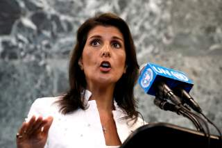 U.S. Ambassador to the United Nations Nikki Haley speaks at a press briefing at U.N. headquarters in New York City, New York, U.S., July 20, 2018. REUTERS/Brendan McDermid/File Photo
