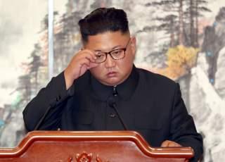 North Korean leader Kim Jong Un attends a joint news conference in Pyongyang, North Korea, September 19, 2018. Pyeongyang Press Corps/Pool via REUTERS