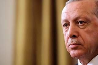 Turkish President Tayyip Erdogan sits during an interview with Reuters in Manhattan, New York, U.S., September 25, 2018. Picture taken September 25, 2018. REUTERS/Andrew Kelly