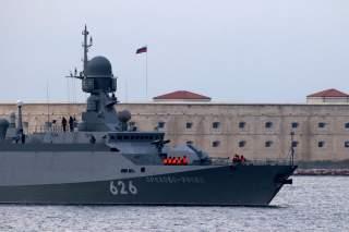Russian navy new missile carrier ship Orekhovo-Zuyevo arrives to the port of Sevastopol, Crimea December 7, 2018. REUTERS/Pavel Rebrov