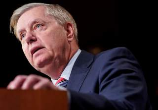 Chairman of the Senate Judiciary Committee Lindsey Graham (R-SC) speaks to the media after Special Counsel Robert Mueller found no evidence of collusion between U.S. President Donald Trump's campaign and Russia in the 2016 election