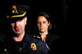 Fiona Hill, former senior director for European and Russian affairs on the National Security Council, departs after testifying in the U.S. House of Representatives impeachment inquiry into U.S. President Trump on Capitol Hill in Washington