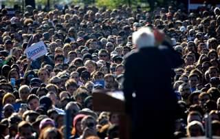 Democratic 2020 U.S. presidential candidate and U.S. Senator Bernie Sanders (I-VT) speaks during