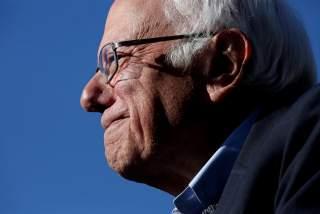 Democratic 2020 U.S. presidential candidate and U.S. Senator Bernie Sanders (I-VT) arrives to a