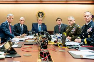 Situation Room of the White House in Washington, U.S., October 26, 2019. Picture taken October 26, 2019. Shealah Craighead/The White House/Handout