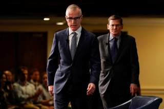 """Former acting FBI director Andrew McCabe arrives to speak during a forum on election security titled, """"2020 Vision: Intelligence and the U.S. Presidential Election"""" at the National Press Club in Washington, U.S., October 30, 2019. REUTERS/Joshua Roberts"""