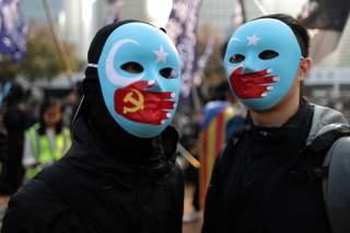 Hong Kong protesters rally in support of Xinjiang Uighurs' human rights in Hong Kong, China, December 22, 2019. REUTERS/Lucy Nicholson