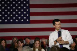 Democratic 2020 U.S. presidential candidate and former South Bend Mayor Pete Buttigieg speaks during a campaign rally in Muscatine, Iowa, U.S., January 21, 2020. REUTERS/Ivan Alvarado