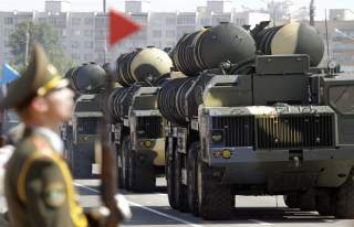 Belarusssian S-300 mobile missile launching systems drive through a military parade during celebrations marking Independence Day in Minsk July 3, 2013. REUTERS/Vasily Fedosenko