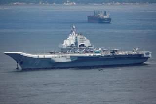 China's aircraft carrier Liaoning departs Hong Kong, China, July 11, 2017. REUTERS/Bobby Yip