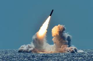 An unarmed Trident II D5 missile is test-launched from the Ohio-class U.S. Navy ballistic missile submarine USS Nebraska off the coast of California, U.S. March 26, 2018. Picture taken March 26, 2018. U.S. Navy/Mass Communication Specialist 1st Class Rona