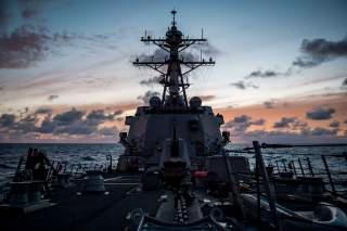 The guided-missile destroyer USS Dewey (DDG 105) transits the Pacific Ocean while participating in Rim of the Pacific Exercise (RIMPAC), July 10, 2018. Photo taken July 10, 2018. U.S. Navy photo by Mass Communication Specialist 2nd Class Devin M. Langer/U