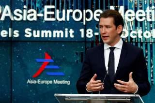 Austrian Chancellor Sebastian Kurz attends a news conference after the ASEM leaders summit in Brussels, Belgium October 19, 2018. REUTERS/Francois Lenoir