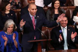 U.S. Representative Hakeem Jeffries (D-NY) nominates Rep. Nancy Pelosi (D-CA) to be House Speaker?at the U.S. Capitol in Washington, U.S. January 3, 2019. REUTERS/Jonathan Ernst