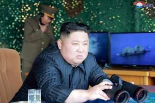 North Korea's leader Kim Jong Un supervises a