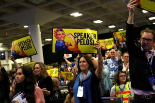 Supporters listen as House Speaker Nancy Pelosi (D-CA) speaks during the California Democratic Convention in San Francisco, California, U.S. June 1, 2019. REUTERS/Stephen Lam