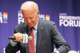 Democratic presidential candidate and former Vice President Joe Biden speaks at the One Iowa and GLAAD LGBTQ Presidential Forum in Cedar Rapids, Iowa, September 20, 2019. REUTERS/Scott Morgan