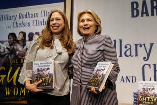 Hillary Clinton and Chelsea Clinton arrive for an event for their new book