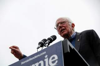 Democratic 2020 U.S. presidential candidate and U.S. Senator Bernie Sanders (I-VT) speaks at a campaign rally in front of the State House after filing his declaration of candidacy papers to appear on the New Hampshire primary election ballot
