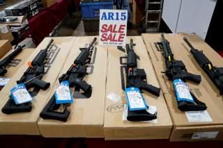 AR-15 rifles are displayed for sale at the Guntoberfest gun show in Oaks, Pennsylvania, U.S., October 6, 2017. REUTERS/Joshua Roberts