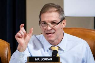 Republican Representative from Ohio Jim Jordan speaks during the House Permanent Select Committee on Intelligence hearing on the impeachment inquiry into U.S. President Donald J. Trump, on Capitol Hill in Washington, DC, U.S., November 13, 2019.