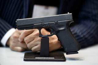 A GLOCK 17 Gen4 handgun is displayed at the 21st Milipol Paris, the worldwide exhibition dedicated to homeland security, in Villepinte near Paris, France, November 19, 2019. REUTERS/Benoit Tessier
