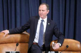 Chairman Adam Schiff (D-CA) returns to his seat following a recess in a House Intelligence Committee hearing as part of the impeachment inquiry into U.S. President Donald Trump on Capitol Hill in Washington, U.S., November 19, 2019. REUTERS/Jonathan Ernst