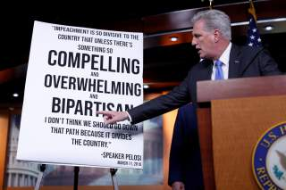 House Minority Leader Kevin McCarthy (R-CA) delivers remarks during an impeachment press conference on Capitol Hill in Washington, U.S., December 3, 2019. REUTERS/Tom Brenner TPX IMAGES OF THE DAY