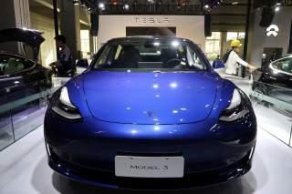 A China-made Tesla Model 3 electric vehicle is seen ahead of the Guangzhou auto show in Guangzhou, Guangdong province, China November 21, 2019. REUTERS/Yilei Sun