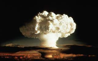 1952 FILE PHOTO - The mushroom cloud of the first test of a hydrogen bomb,