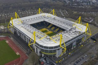 Westfalenstadion (or Signal-Iduna-Park) is a football stadium in Dortmund, North Rhine-Westphalia, Germany, which is the home of Borussia Dortmund. Arne Müseler / arne-mueseler.com / CC-BY-SA-3.0.