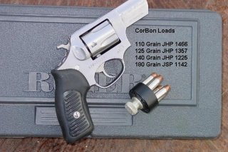Ruger SP101 with 2.25-inch barrel. Corbon performance data. March 2008. Public domain/Mike Cumpston.