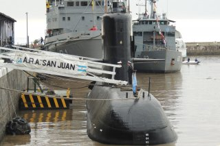 Image:Submarine ARA Juan in the Naval Dock of Buenos Aires, Argentina, 14 May 2017. Wikimedia/Juan Kulichevsky. Creative Commons Attribution-Share Alike 2.0 Generic license.