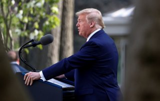 U.S. President Donald Trump speaks during the daily coronavirus response briefing in the Rose Garden at the White House in Washington, U.S., March 30, 2020. REUTERS/Tom Brenner