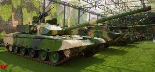A Chinese Type 99 Main Battle Tank on display at the Beijing Military Museum as part of the
