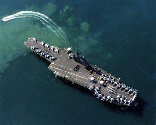 https://en.wikipedia.org/wiki/Midway-class_aircraft_carrier#/media/File:USS_Coral_Sea_(CV-43)_aerial_photo_at_Benidorm_1988.JPEG