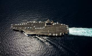 The aircraft carrier USS Abraham Lincoln (CVN 72) transits the Arabian Sea April 5, 2012.