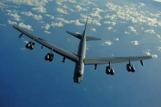 Air Force B-52 Stratofortress from the 20th Expeditionary Bomb Squadron, Barksdale Air Force Base, La., flies a mission in support of Rim of the Pacific (RIMPAC) 2010 over the Pacific Ocean July 10, 2010.
