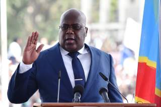 Democratic Republic of Congo's Felix Tshisekedi swears into office during an inauguration ceremony as the new president of the Democratic Republic of Congo at the Palais de la Nation in Kinshasa, Democratic Republic of Congo January 24, 2019. REUTERS/ Oli
