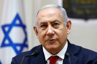 Israeli Prime Minister Benjamin Netanyahu attends the weekly cabinet meeting at the prime minister's office in Jerusalem, June 24, 2018. Gali Tibbon/Pool via Reuters