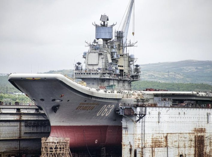 Admiral Kuznetsov, Russian Aircraft Carrier. 27 June 2015. Flickr/Chrisopher Michel. Creative Commons Attribution 2.0 Generic license.